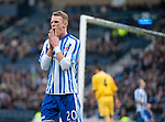 GLASGOW, SCOTLAND - JANUARY 28:  Kilmarnock's Dean Shiels after going close during the Scottish Communities Cup Semi Final match between Ayr United and Kilmarnock at Hampden Park on January 28, 2012 in Glasgow, United Kingdom. (Photo by Rob Casey/Getty Images).