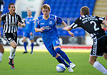 St Johnstone v St Mirren...11.09.10  .Liam Craig is closed down by Hugh Murray and David Van Zanten.Picture by Graeme Hart..Copyright Perthshire Picture Agency.Tel: 01738 623350  Mobile: 07990 594431
