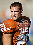 Texas Longhorns safety Blake Gideon (21) in action during the game between the Brigham Young Cougars and the Texas Longhorns at the Darrell K Royal - Texas Memorial Stadium in Austin, Texas. Texas defeats Brigham Young 17 to 16...