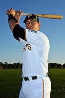 Feb 28, 2010; Bradenton, FL, USA; Pittsburgh Pirates  catcher Tony Sanchez (55) during  photoday at Pirate City. Mandatory Credit: Tomasso De Rosa/ Four Seam Images