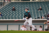 Benjamin Huber (16) of Pendleton High School in Pendleton, South Carolina during the Under Armour All-American Pre-Season Tournament presented by Baseball Factory on January 14, 2017 at Sloan Park in Mesa, Arizona.  (Freek Bouw/MJP/Four Seam Images)