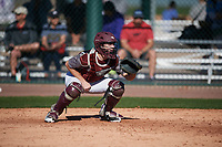 Zach Brown (13) of Cinco Ranch High School in Katy, Texas during the Baseball Factory All-America Pre-Season Tournament, powered by Under Armour, on January 13, 2018 at Sloan Park Complex in Mesa, Arizona.  (Mike Janes/Four Seam Images)