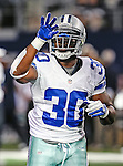 Dallas Cowboys running back Javarris Williams (30) in action during the pre- season game between the St. Louis Rams and the Dallas Cowboys at the Cowboys Stadium in Arlington, Texas. Dallas defeats St. Louis  20 to 19.