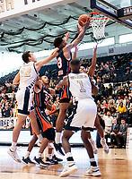 WASHINGTON, DC - NOVEMBER 16: Troy Baxter #13 of Morgan State takes a shot during a game between Morgan State University and George Washington University at The Smith Center on November 16, 2019 in Washington, DC.