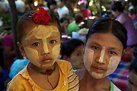 Bagan Town and market, Myanmar