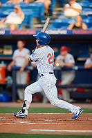 St. Lucie Mets Matt Winaker (21) bats during a Florida State League game against the Florida Fire Frogs on April 12, 2019 at First Data Field in St. Lucie, Florida.  Florida defeated St. Lucie 10-7.  (Mike Janes/Four Seam Images)