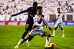 Alexandre Moreno Lopera, Alex Moreno, of Rayo Vallecano fights for the ball with Ousmane Dembele of FC Barcelona during the La Liga 2018-19 match between Rayo Vallecano and FC Barcelona at Estadio de Vallecas, on November 03 2018 in Madrid, Spain. Photo by Diego Gouto / Power Sport Images