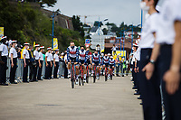 Edward Theuns (BEL/Trek-Segafredo) and  Jasper Stuyven (BEL/Trek-Segafredo) at the pre Tour teams presentation of the 108th Tour de France 2021 in Brest at le Grand Départ.
