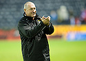 CALEY MANAGER TERRY BUTCHER AT THE EN OF THE GAME.