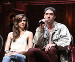 "Eliza Ohman and Ryan Vasquez from the 'Hamilton' cast during a Q & A before The Rockefeller Foundation and The Gilder Lehrman Institute of American History sponsored High School student #EduHam matinee performance of ""Hamilton"" at the Richard Rodgers Theatre on June 6, 2018 in New York City."