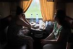 UKRAINE, Mariupol: Inside a daily train from Mariupol to Kiev.<br /> <br /> UKRAINE, Mariupol: A l'intérieur du train quotidien entre Mariupol et Kiev.