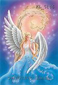 Interlitho, Lorella, FANTASY, paintings, angel, rabbit, KL, KL5146,#fantasy# illustrations, pinturas