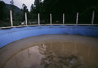 Water filled with silt runs off a mountaintop removal mine flows into a stream that is fine, but shows up in the bottom of a swimming pool filled from the creek.
