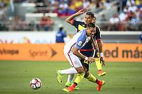 Action photo during the match United States vs Colombia, Corresponding Group -A- America Cup Centenary 2016, at Levis Stadium<br /> <br /> Foto de accion durante e partido Estados Unidos vs Colombia, Correspondiante al Grupo -A-  de la Copa America Centenario USA 2016 en el Estadio Levis, en la foto: (i-d) Clint Dempsey de USA y Jeison Murillo de Colombia<br /> <br /> <br /> 03/06/2016/MEXSPORT/German Alegria.