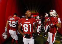 Aug 18, 2007; Glendale, AZ, USA; Arizona Cardinals wide receiver Anquan Boldin (81) against the Houston Texans at University of Phoenix Stadium. Mandatory Credit: Mark J. Rebilas-US PRESSWIRE Copyright © 2007 Mark J. Rebilas