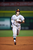 Maryland Terrapins second baseman Nick Dunn (39) runs the bases after hitting a home run during a game against the Louisville Cardinals on February 18, 2017 at Spectrum Field in Clearwater, Florida.  Louisville defeated Maryland 10-7.  (Mike Janes/Four Seam Images)