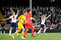 Beth Mead of England Women looks for a goal during the Women's international friendly match between England Women and Australia at Craven Cottage, London, England on 9 October 2018. Photo by Carlton Myrie / PRiME Media Images.
