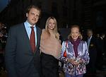 ALESSANDRO GANCIA CON LA MOGLIE DELPHINE ARNAULT E DORIS BRYNNER<br /> INAUGURAZIONE PALAZZO FENDI ROMA 2005