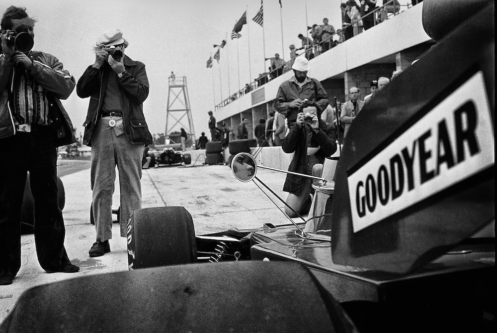 France's F1 champion Francois Cevert tests the ELF Tyrrell-Ford for the 1972  United States Grand Prix. | Richard Kelley F1