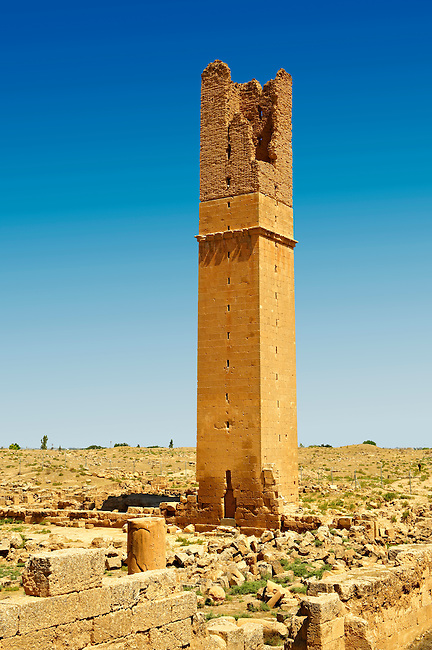 "Pictures of the Arabic astrological observation tower of the 8th century University of  of Harran, south west Anatolia, Turkey.  Harran was a major ancient city in Upper Mesopotamia whose site is near the modern village of Altınbaşak, Turkey, 24 miles (44 kilometers) southeast of Şanlıurfa. The location is in a district of Şanlıurfa Province that is also named ""Harran"". Harran is famous for its traditional 'beehive' adobe houses, constructed entirely without wood. The design of these makes them cool inside. 52"