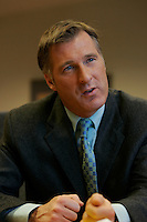 Montreal (Qc) CANADA - file photo- Dec 8, 2006- <br /> Maxime Bernier.<br /> <br /> The Honourable Maxime Bernier<br /> Minister of Foreign Affairs<br /> <br /> Beauce (Quebec)<br /> <br /> Maxime Bernier, first elected to the House of Commons in 2006, was appointed Minister of Industry on February 6, 2006.<br /> <br /> Before his election, Mr. Bernier was Vice-President of Corporate Affairs and Communications for Standard Life of Canada insurance company, and Director of Business and International Relations at the Commission des valeurs mobilières du Québec. He has worked for financial and banking institutions and has provided advice on their behalf on various legislative issues.<br /> <br /> Mr. Bernier is a lawyer with a bachelor's degree in commerce. He was a member of the board of the Montreal Economic Institute and is a member of several charitable organizations. He was born and raised in Beauce, Quebec.<br /> Photo (c)  Images Distribution