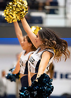 WASHINGTON, DC - FEBRUARY 22: George Washington cheerleaders performCheerle during a game between La Salle and George Washington at Charles E Smith Center on February 22, 2020 in Washington, DC.