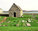 Iona. Argyll and Bute Strathclyde Scotland. St Orans Chapel and the Reilig Odhrain. Celtic Britain published by Orion