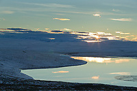 Island lake landscape and the Endicott Mountains of the Brooks Range, Arctic, Alaska