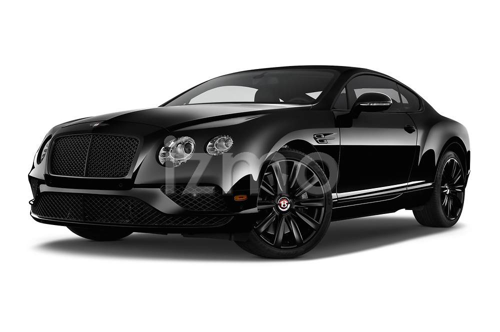 Stock pictures of low aggressive front three quarter view of 2017 Bentley Continental-GT V8 3 Door Coupe Low Aggressive