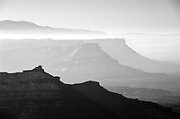 Dead Horse Point and Fishers Towers, Utah (Black & White)
