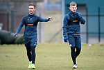 St Johnstone Training…27.03.18<br />Chris Millar and George Williams pictured during training this morning at McDiarmid Park ahead of tomorrow's game against Hamilton Accies<br />Picture by Graeme Hart.<br />Copyright Perthshire Picture Agency<br />Tel: 01738 623350  Mobile: 07990 594431