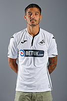 Pictured: Kyle Naughton. Thursday 12 July 2018<br /> Re: Swansea City FC player and staff profile photo-shoot at Fairwood Training Ground, Wales, UK