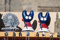 Spanien, Galicien,Santiago de Compostella, Verkauf von Jakobsouvenirs