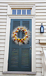 """Door and Christmas wreath Colonial Williamsburg Virginia, Colonial Williamsburg Virginia is historic district 1699 to 1780 which made colonial Virgnia's Capital, for most of the 18th century Williamsburg was the center of government education and culture in Colony of Virginia, George Washington, Thomas Jefferson, Patrick Henry, James Monroe, James Madison, George Wythe, Peyton Randolph, and others molded democracy in the Commonwealth of Virginia and the United States, Motto of Colonial Williamsburg is """"The furture may learn from the past,"""""""