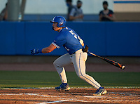 Jesuit Tigers AJ Nessler (5) bats during a game against the IMG Academy Ascenders on April 21, 2021 at IMG Academy in Bradenton, Florida.  (Mike Janes/Four Seam Images)