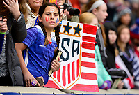 Harrison, N.J. - Sunday March 04, 2018: USA fans during a 2018 SheBelieves Cup match between the women's national teams of the United States (USA) and France (FRA) at Red Bull Arena.