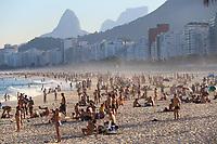 21/06/2020 - MOVIMENTAÇÃO DE BANHISTAS NO RIO DE JANEIRO