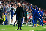 Atletico de Madrid's coach Diego Pablo Cholo Simeone dejected after Chelsea FC's goal during Champions League 2017/2018, Group C, match 2. September 27,2017. (ALTERPHOTOS/Acero)