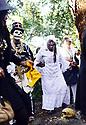 Ausettua AmorAmenkum offers prayer at Congo Square during the memorial for filmmaker Royce Osborn, 2017