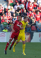 18 May 2013: Toronto FC midfielder Luis Silva #11 and Columbus Crew defender Tyson Wahl #2 in action during an MLS game between the Columbus Crew and Toronto FC at BMO Field in Toronto, Ontario Canada..The Columbus Crew won 1-0...