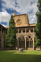 Espagne, Navarre, Pampelune,  Cathédrale Sainte-Marie de Pampelune, Le cloître gothique // Spain, Navarra, Pamplona, Pamplona Cathedral, the Gothic Cloister