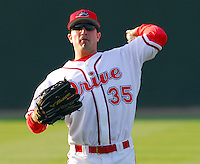 10 April 2007: Mickey Hall of the Greenville Drive, Class A affiliate of the Boston Red Sox, during a game against the Columbus Catfish.  Photo by:  Tom Priddy/Four Seam Images