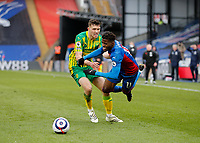 10/13th March 2021; Selhurst Park, London, England; English Premier League Football, Crystal Palace versus West Bromwich Albion; Dara O'Shea of West Bromwich Albion takes down Wilfried Zaha of Crystal Palace