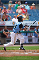 Syracuse Chiefs outfielder Darin Mastroianni (16) at bat during a game against the Pawtucket Red Sox on July 6, 2015 at NBT Bank Stadium in Syracuse, New York.  Syracuse defeated Pawtucket 3-2.  (Mike Janes/Four Seam Images)
