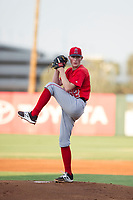 AZL Angels starting pitcher John Swanda (62) gets ready to deliver a pitch during a game against the AZL Giants on July 9, 2017 at Diablo Stadium in Tempe, Arizona. AZL Giants defeated the AZL Angels 8-4. (Zachary Lucy/Four Seam Images)