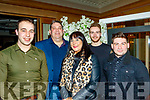 Attending the Cordal GAA annual barbecue in the Ballygarry house hotel, Tralee last Saturday night were andrew Barry, Patrick&Jackie Burke, Jimmy Dowd with Eoin O'Mahony.