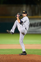 Mesa Solar Sox pitcher Hunter Wood (50) delivers a pitch during an Arizona Fall League game against the Scottsdale Scorpions on October 20, 2015 at Scottsdale Stadium in Scottsdale, Arizona.  Mesa defeated Scottsdale 5-4.  (Mike Janes/Four Seam Images)