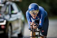 Guazzini Vittoria (ITA/Valcar-Travel & service)<br /> <br /> 88th UCI Road World Championships 2021 – ITT (WC)<br /> Women Elite Time trial from Knokke-Heist to Brugge (30.3km)<br /> <br /> ©Kramon