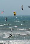 Wind surfing and kite surfing in California