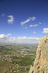 Israel, Lower Galilee, Arbel Cliff overlooking Migdal